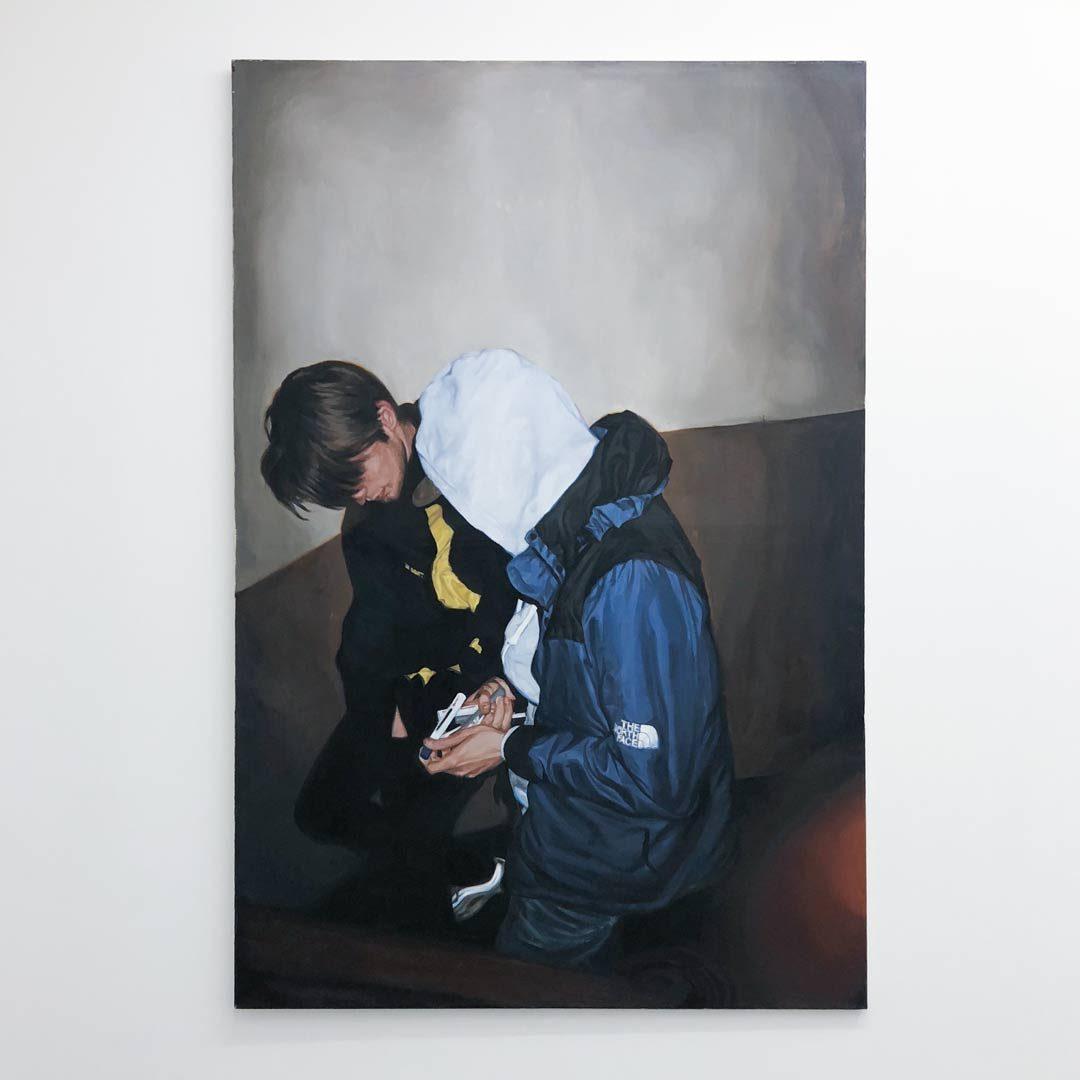 19.06, huile sur toile, 150×100 cm, 2017 © GALERIE CHLOE SALGADO et Julian Simon.