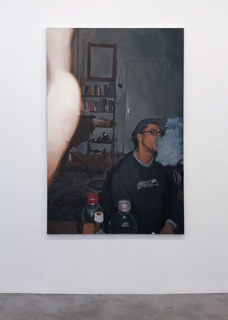 20.20, huile sur toile, 150×100 cm, 2017, © GALERIE CHLOE SALGADO et Julian Simon.