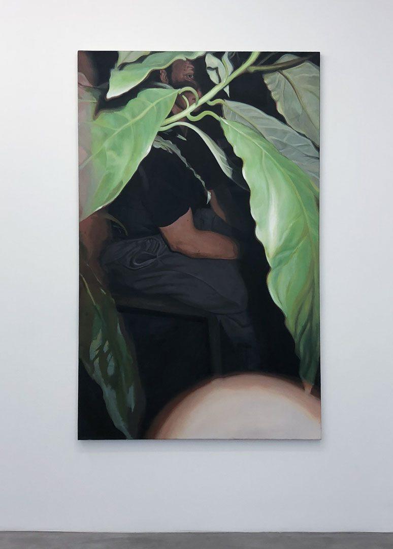 Malik, huile sur toile, 160x100cm, 2018 © GALERIE CHLOE SALGADO et Julian Simon.