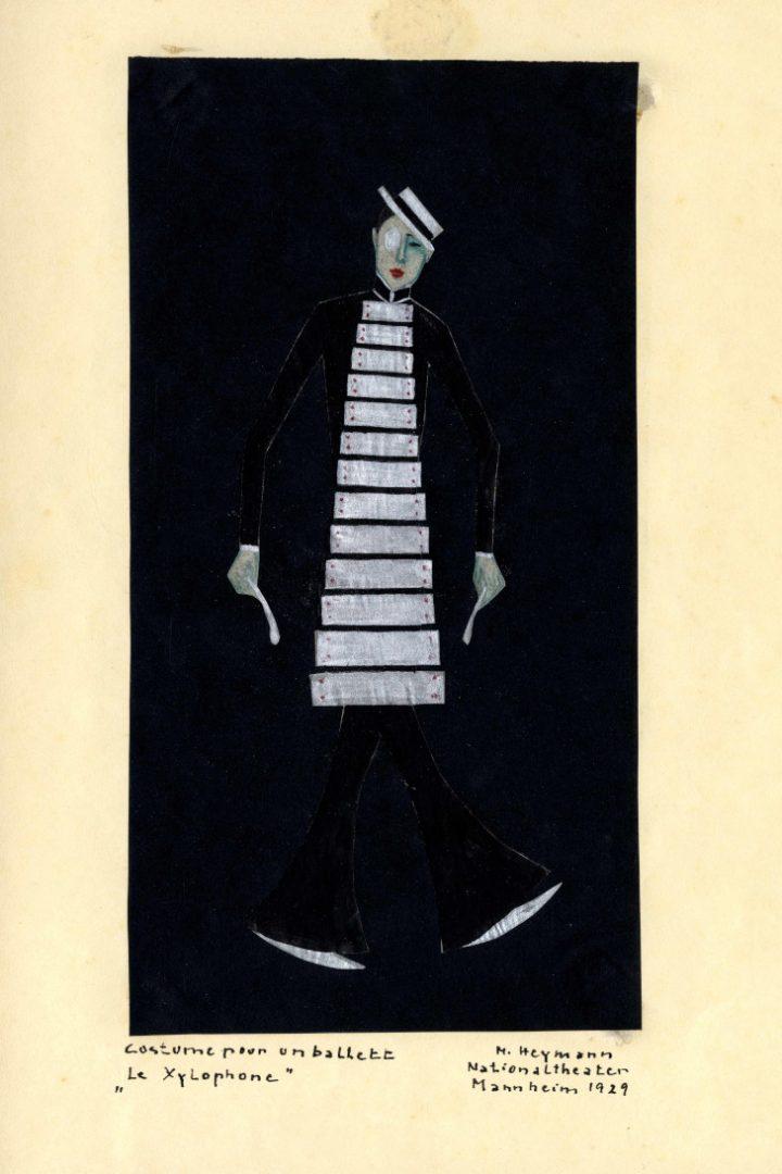 """Marianne Heymann, """"Le Xylophone. Costume pour un ballett"""", Mannheim, 1929 © Theaterwissenschaftliche Sammlung der Universität zu Köln"""