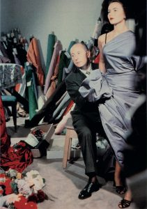 Christian Dior with model Sylvie, circa 1948 Courtesy of Christian Dior