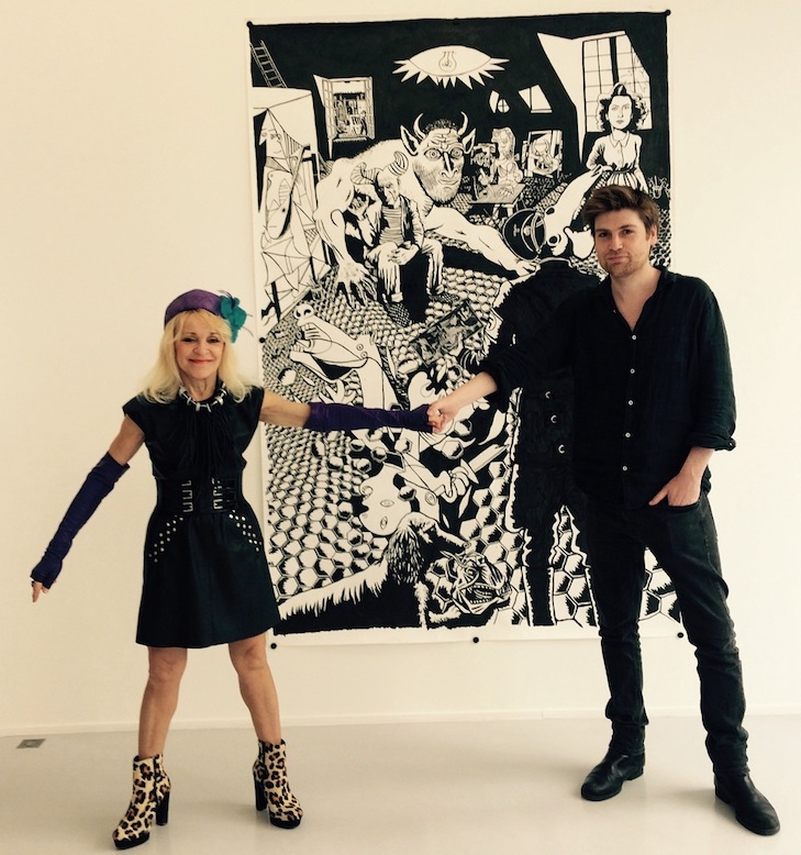 Neal Fox with Suzanne Tarasieve, Paris, 2017 Courtesy Galerie Suzanne Tarasieve, Paris