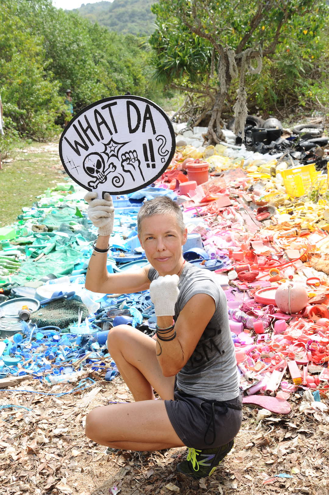 River Of Rubbish 2014, Liina Klauss in action