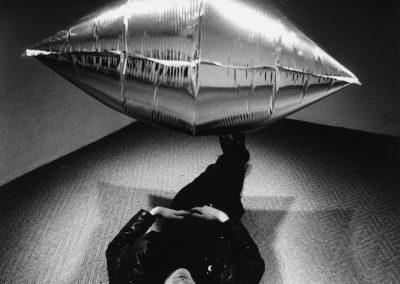 Steve Schapiro Andy Warhol under the Silver Cloud Pillow CAMERA WORK