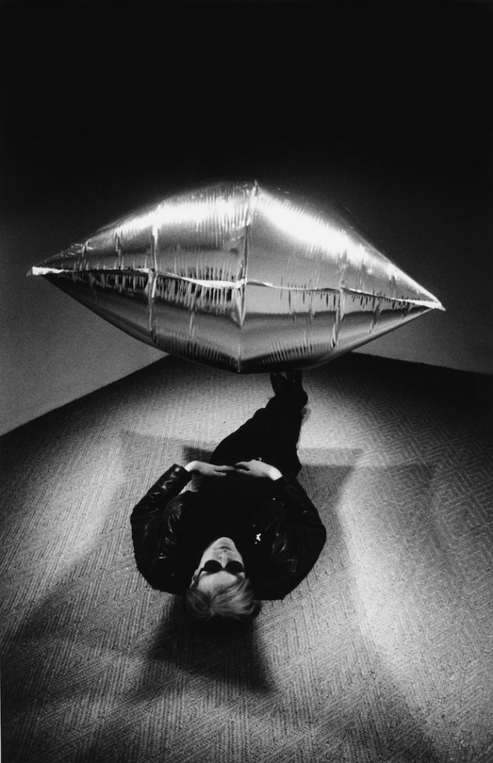 Steve Schapiro Andy Warhol under the Silver Cloud Pillow CAMERA WORK
