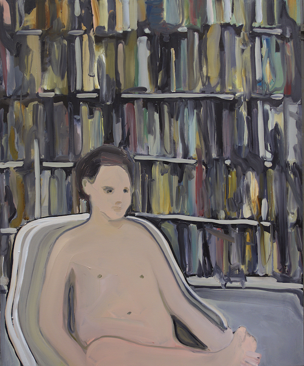 Rudy Cremonini the young library 2019, Oil on canvas, 110 x 90 cm