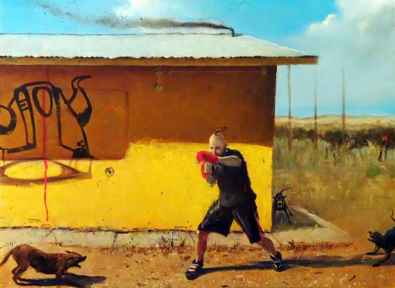 Bison. work in progress, courtesy Galerie Friedmann-Hahn