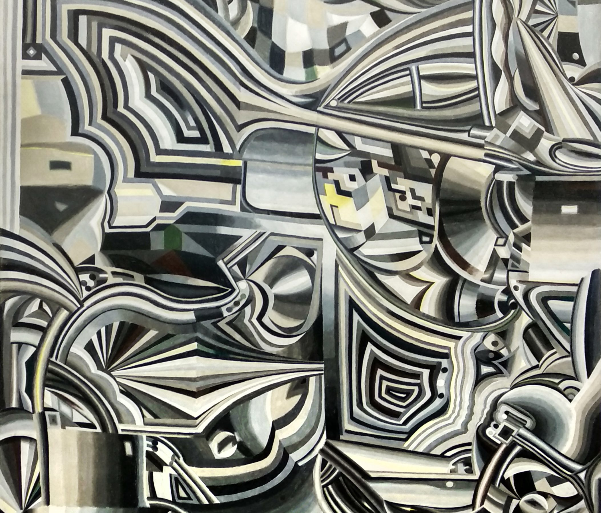 Simon Hemmer (*1978 in Cologne) ´Grau` 2018 colored pencil on paper on canvas 196 x 150 cm © Courtesy Art Advisory Alexander Warhus, Cologne 2019