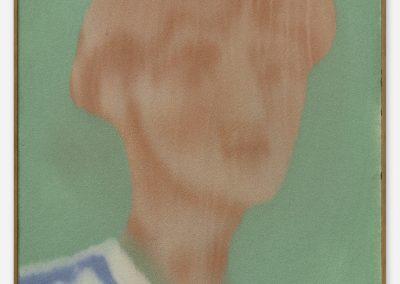 Peter Böhnisch, Ohne Titel, 2019,40 x 52 cm, Edelkorund und Pigment auf MDF