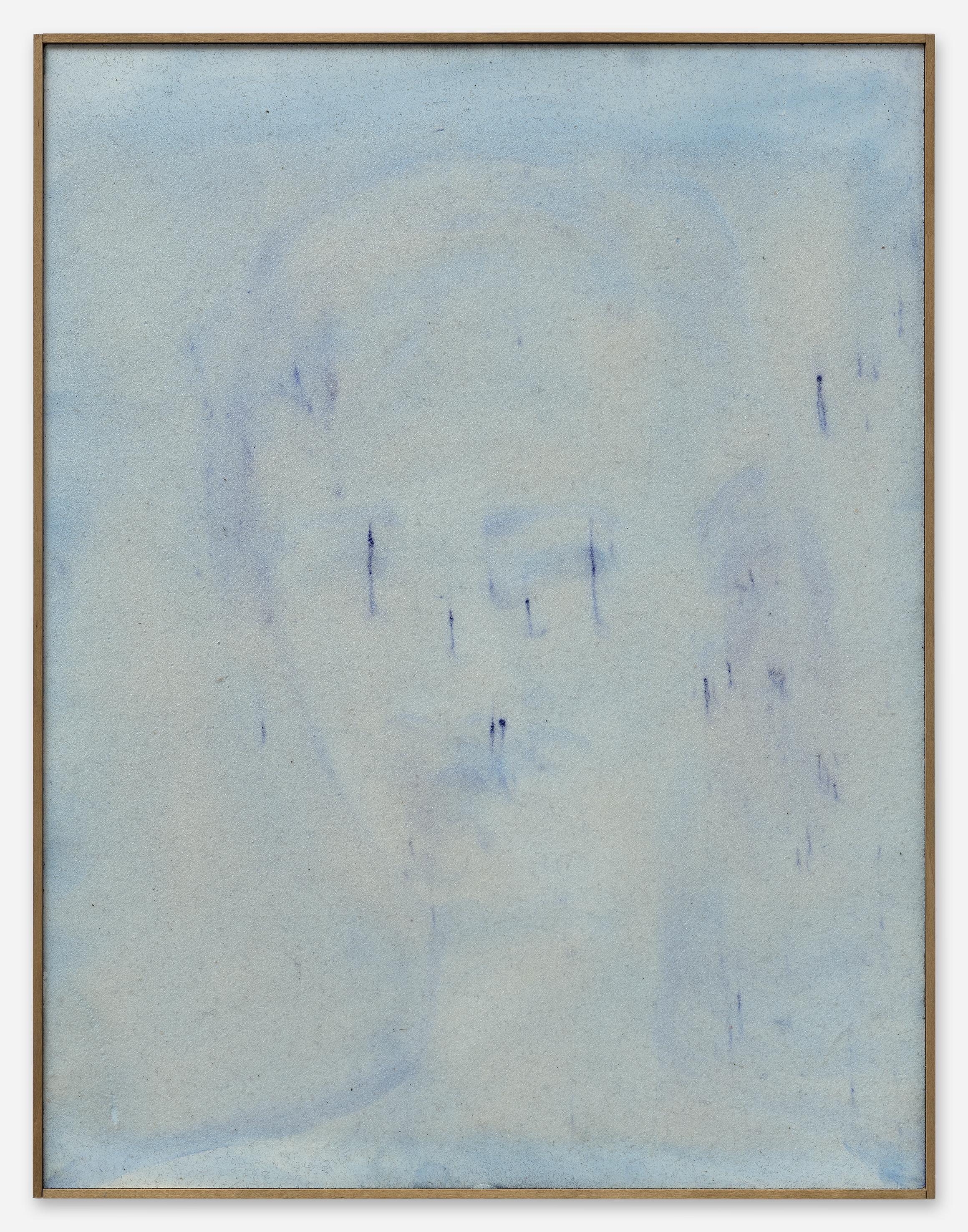 Peter Böhnisch, Ohne Titel, 2018,40 x 52 cm, Edelkorund und Pigment auf MDF,  ©  Matthias Kolb