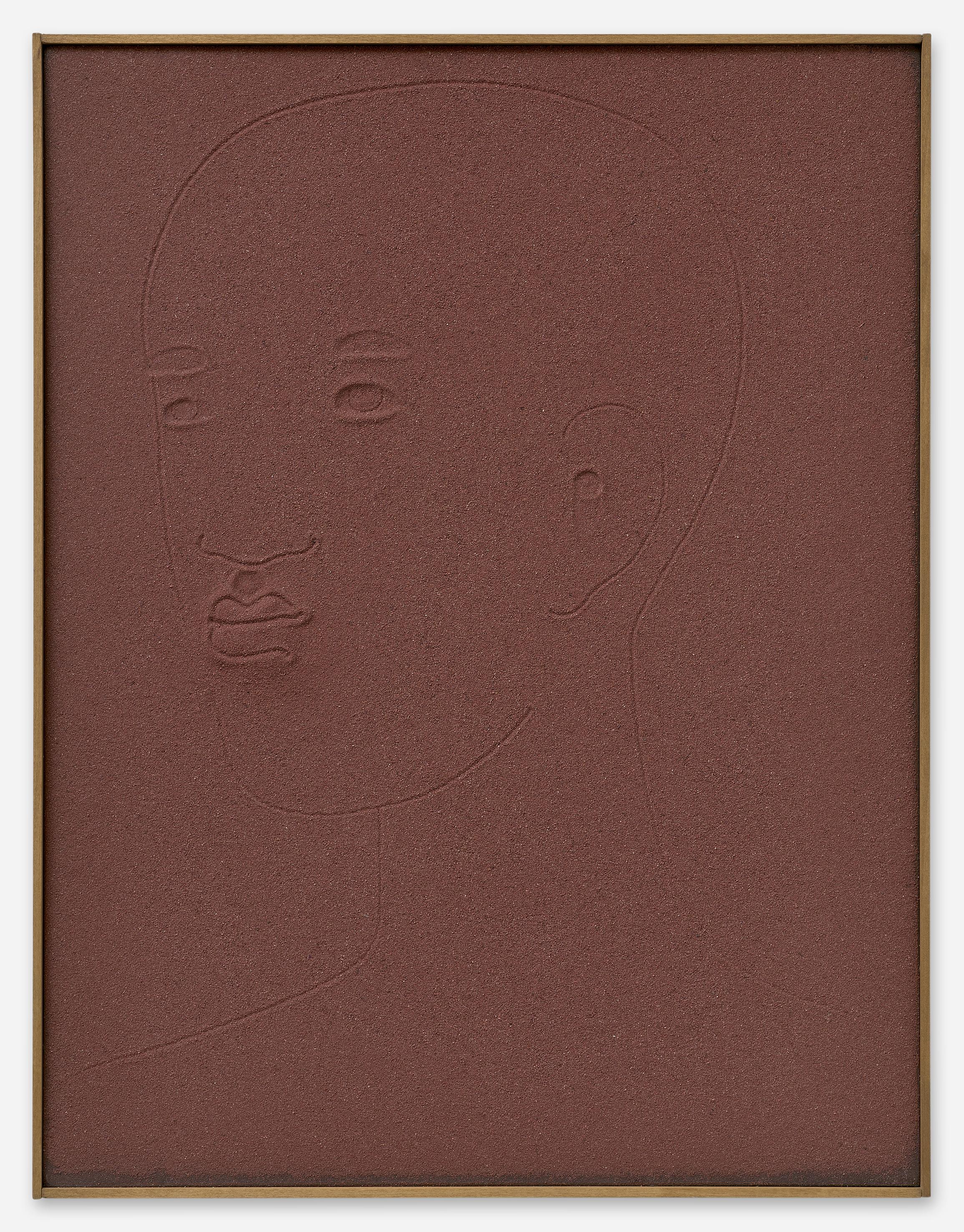 Peter Böhnisch, Ohne Titel, 2016,40 x 52 cm, Edelkorund und Pigment auf MDF, ©  Matthias Kolb