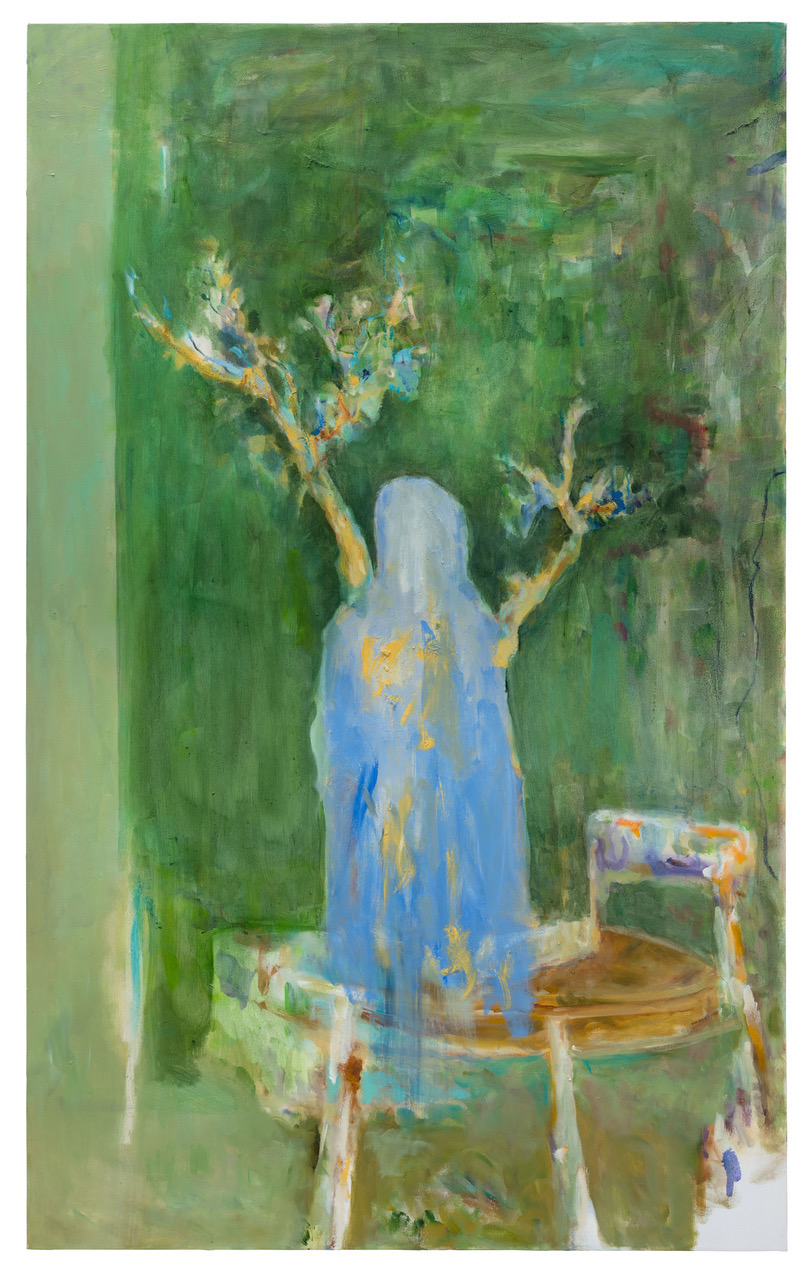 "Valérie Favre, ""Am Tisch"", 2018 150 x 90cm Oil on canvas © Valérie Favre & VG Bild-Kunst"
