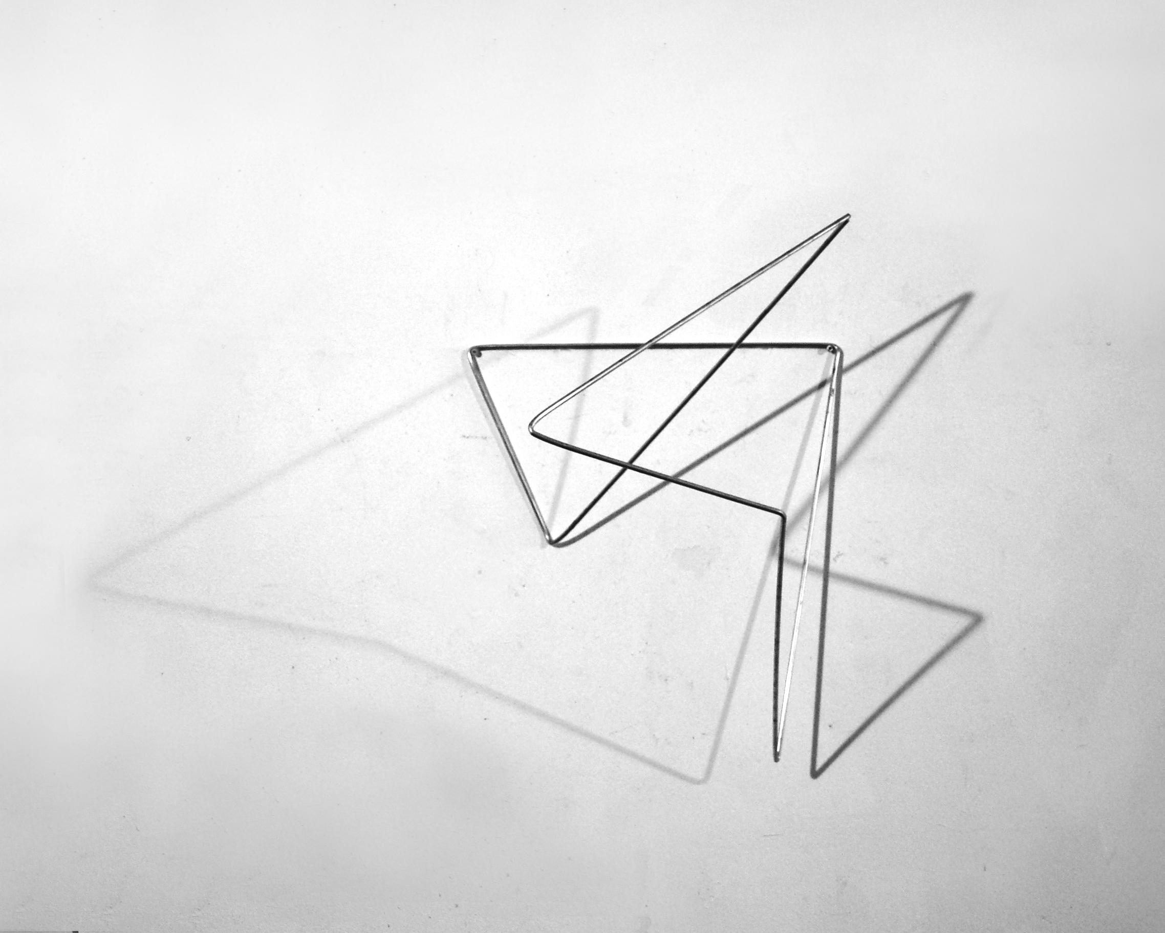 Antje Blumenstein, folded 04, 2018, Alurundstab gefaltet, 59 x 35 x 42 cm