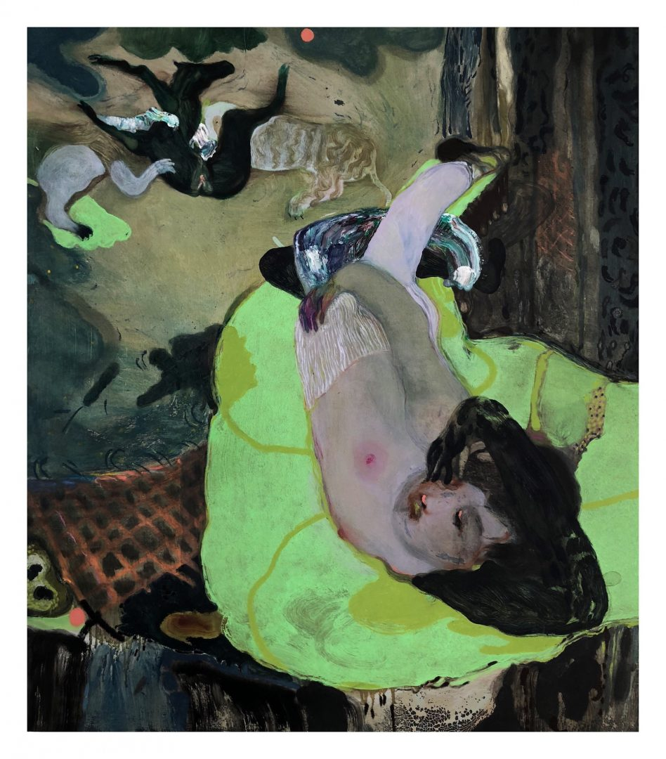 Guglielmo Castelli, 2019, About today, mix technique on canvas, 90 x 80 cm