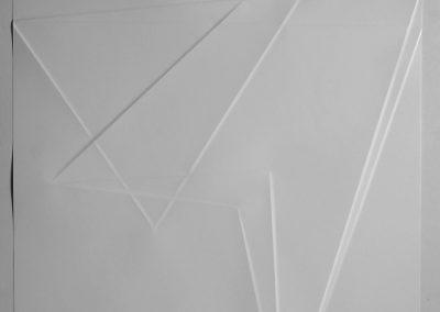 Antje Blumenstein, lines P42, 2019, Papier gefalzt, gerahmt 90x70 cm