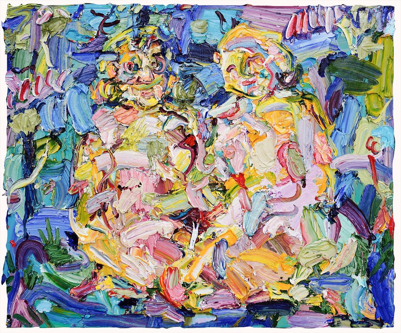 """Vanessa Prager, """"Chameleon"""" 2019, oil on panel 50 x 60 cm"""