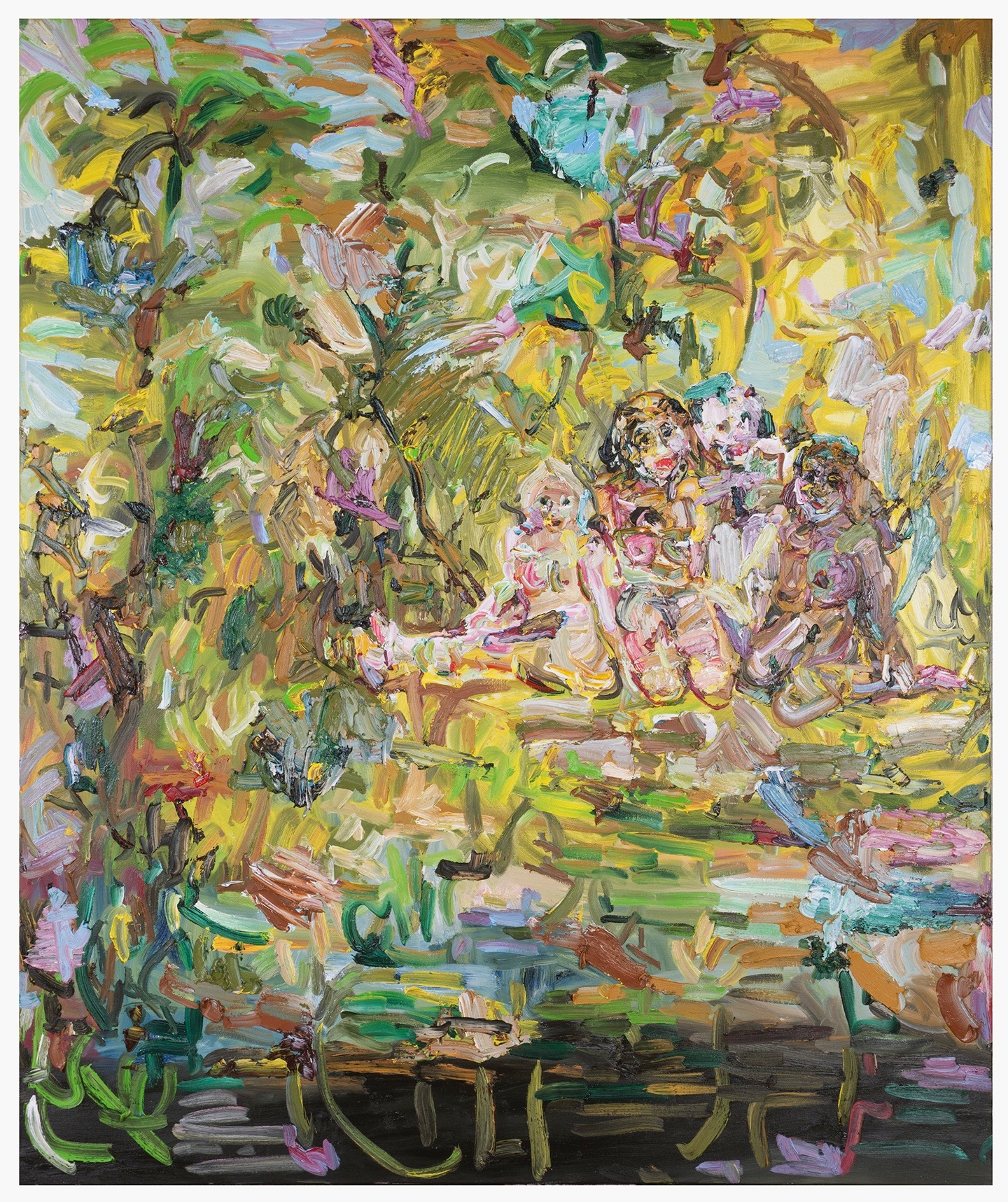"""Vanessa Prager """"End of the Road"""" 2019, oil on canvas 182.9 x 152.4 cm"""