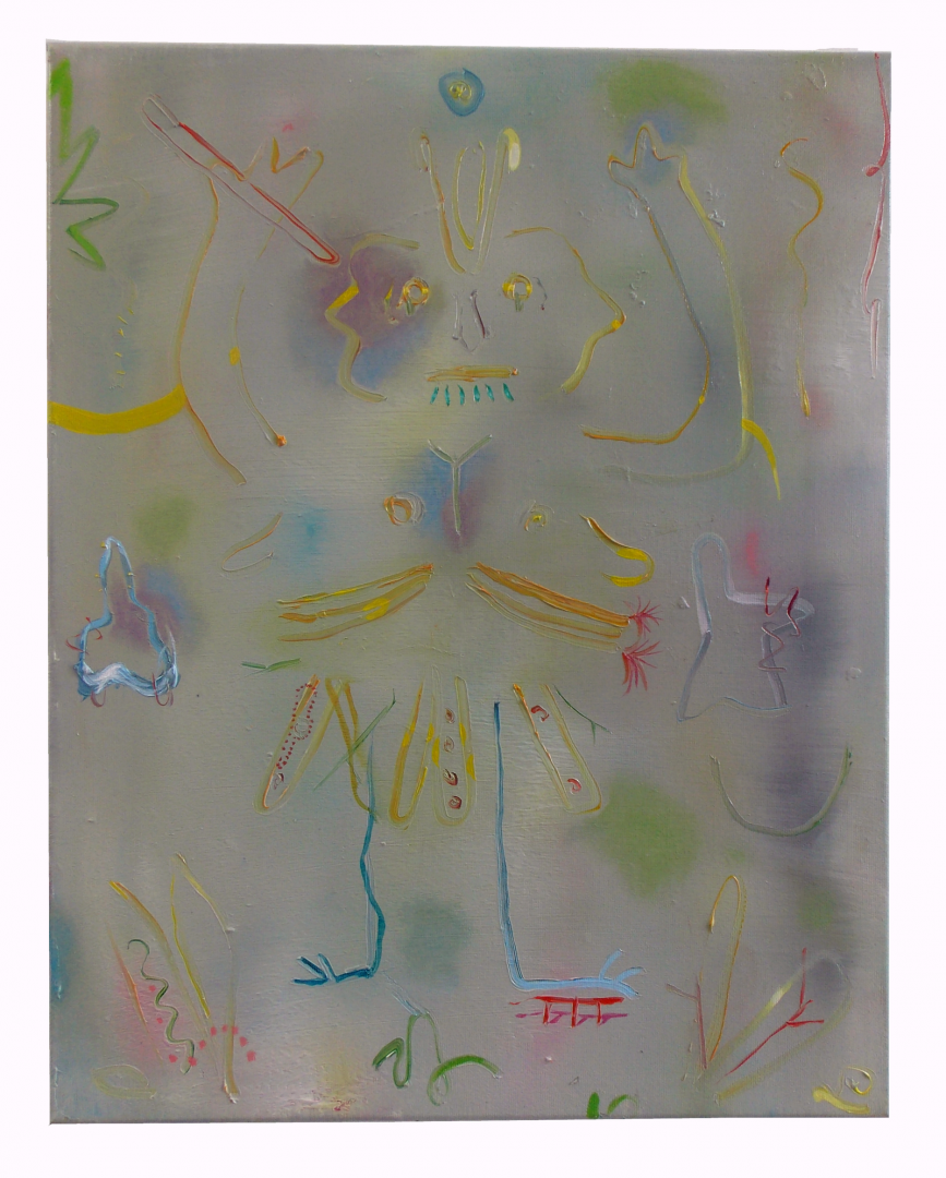 Paris Giachoustidis, Clown, 2017, 13-50x40cm, oil on canvas