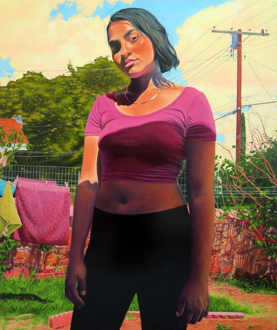 Marianna Olague, Maya, 2019, Oil on canvas, 72 x 60 in