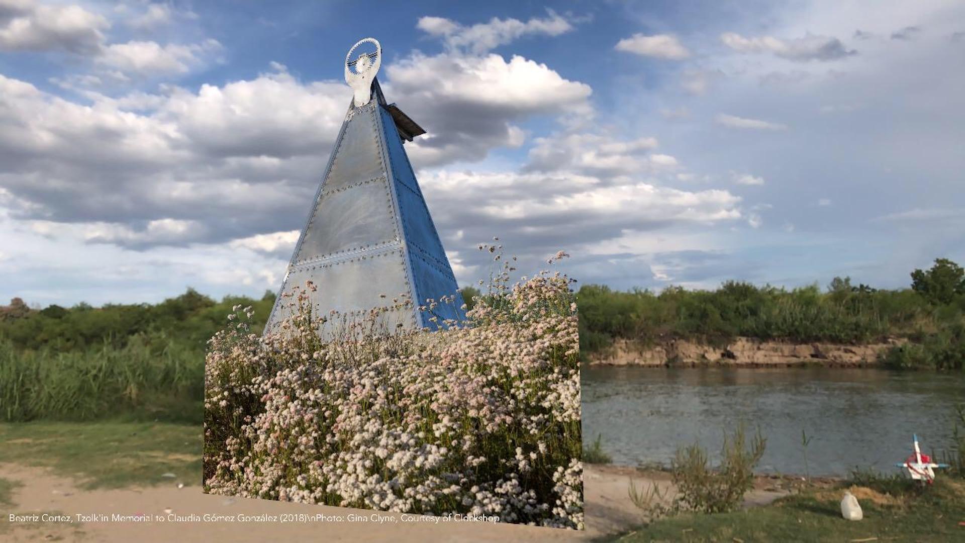 """Beatriz Cortez """"Tzolk'in Memorial to Claudia Gómez González"""" (2018) Parque Viveros, Nuevo Laredo, Mexico"""
