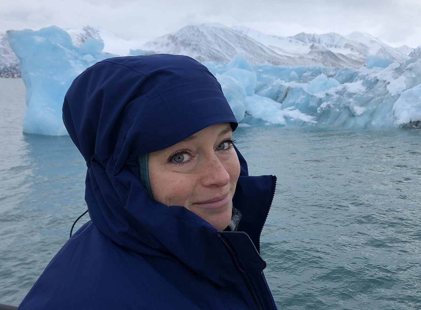 Stephanie Imbeau at the Arctic Circle Residency, 2019
