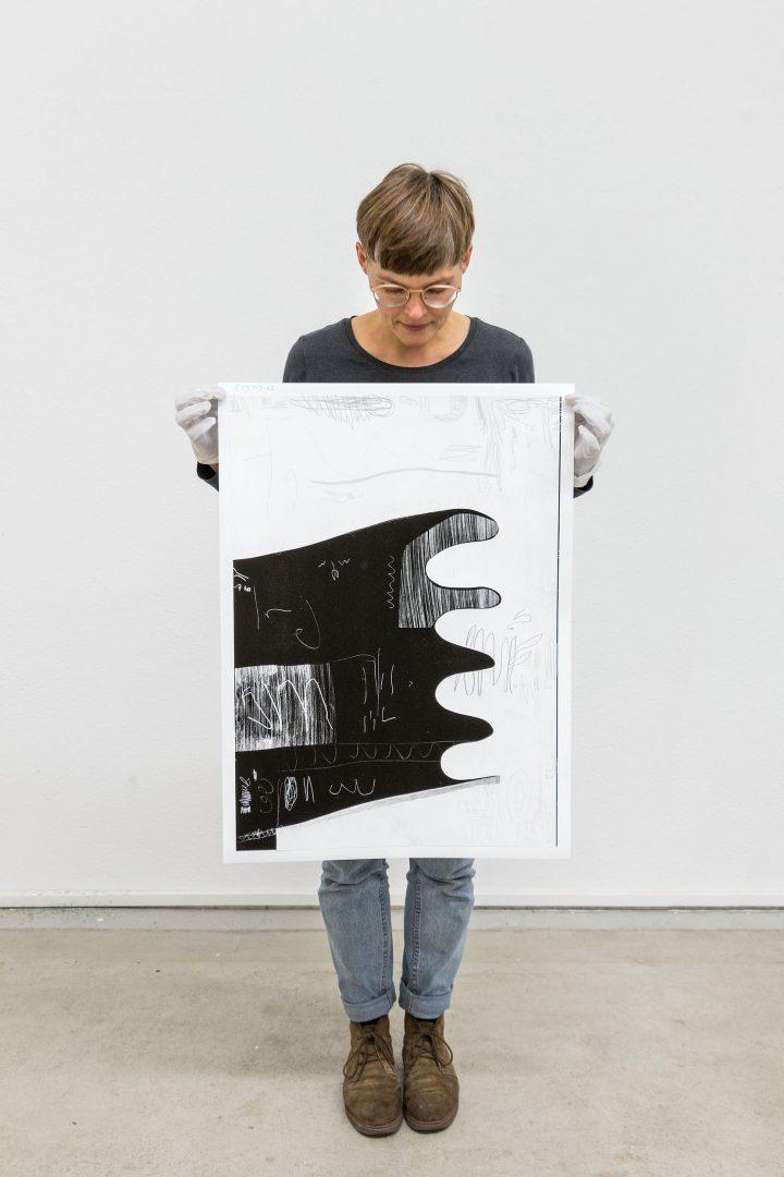 Rahel Gorten mit der Edition von Andreas Breunig - leikela Köln Edition