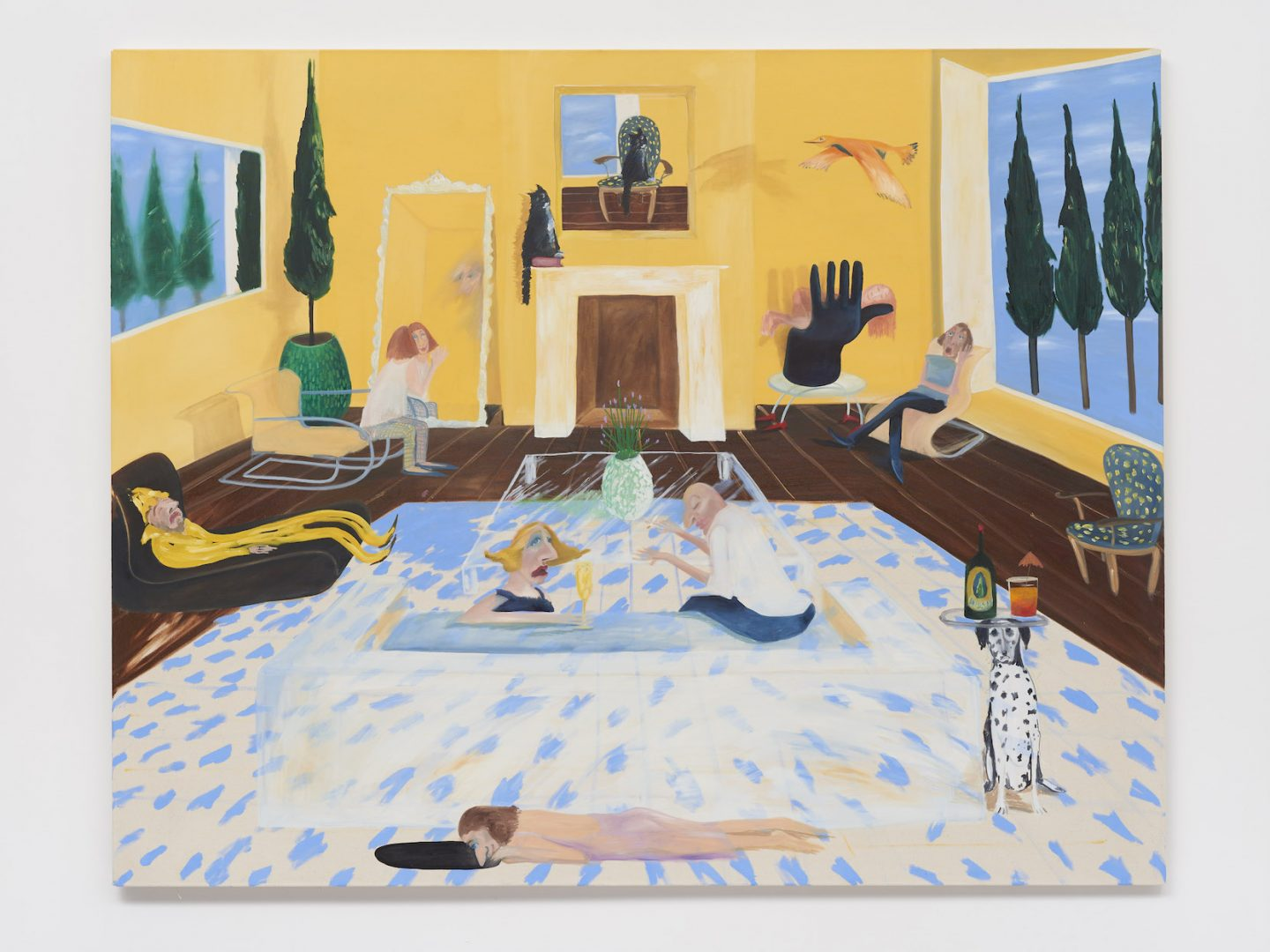 Mary Stephenson, The Party, 2019, Oil on canvas