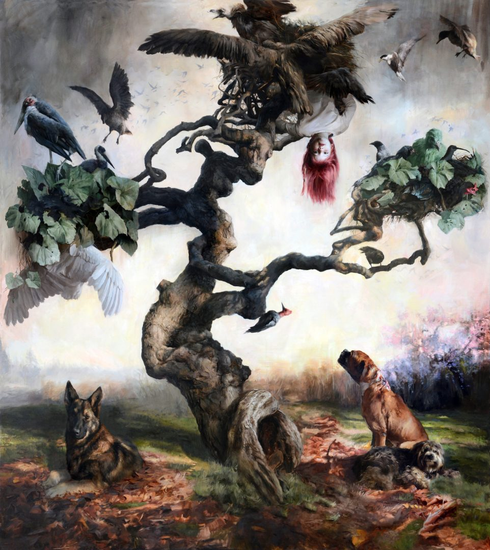 Guillermo Lorca, Eternal life, 2013, oil on canvas 290x260cm