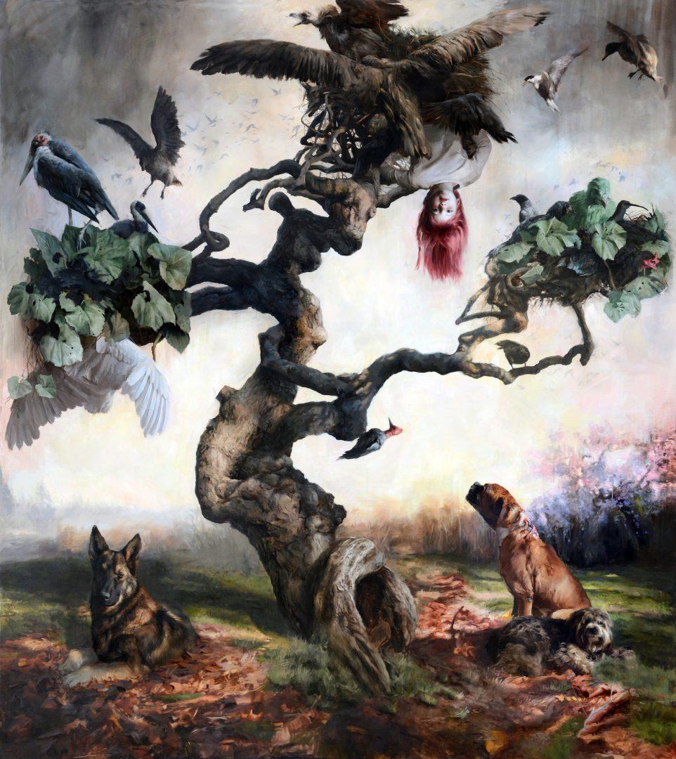 Guillermo Lorca, Eternal life, 2013, oil on canvas 290x260cm