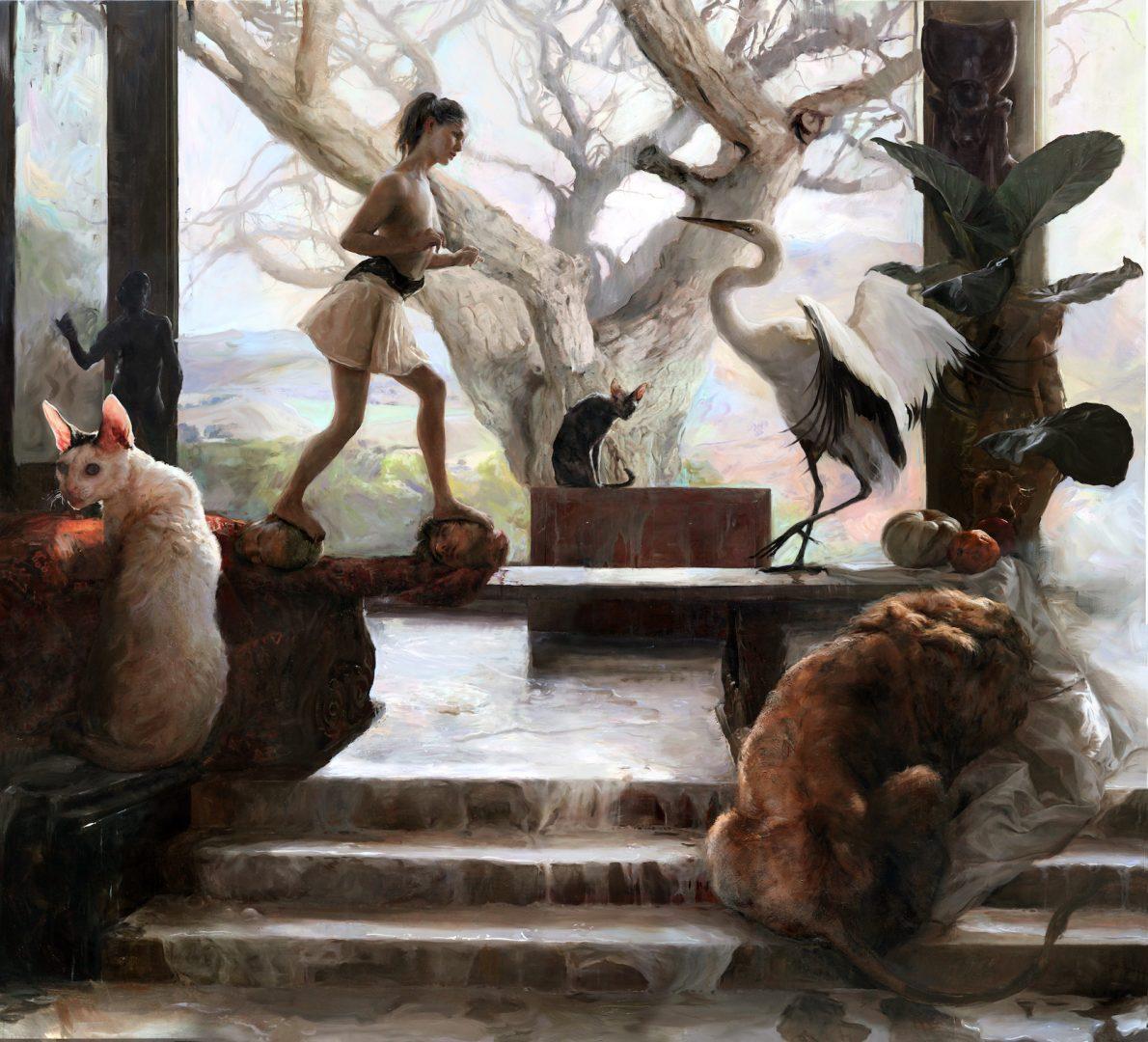 Guillermo Lorca, The Enccounter, 2018-19, oil and acrylic on canvas, 210x230 cm