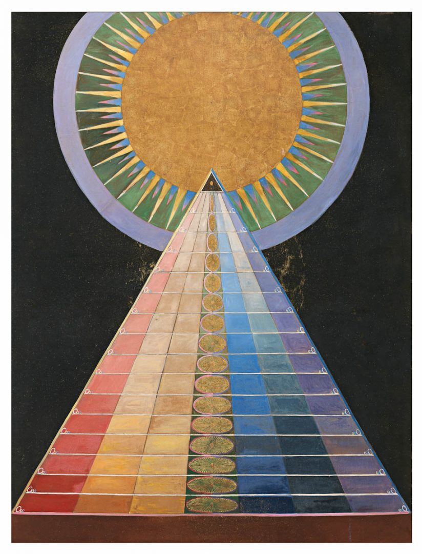Altar pictures, Group X, no. 1. Altar picture, 1915 Oil and sheet metal on canvas 237,5x179,5 cm HAK187 © The Foundation Hilma af Klint's Works