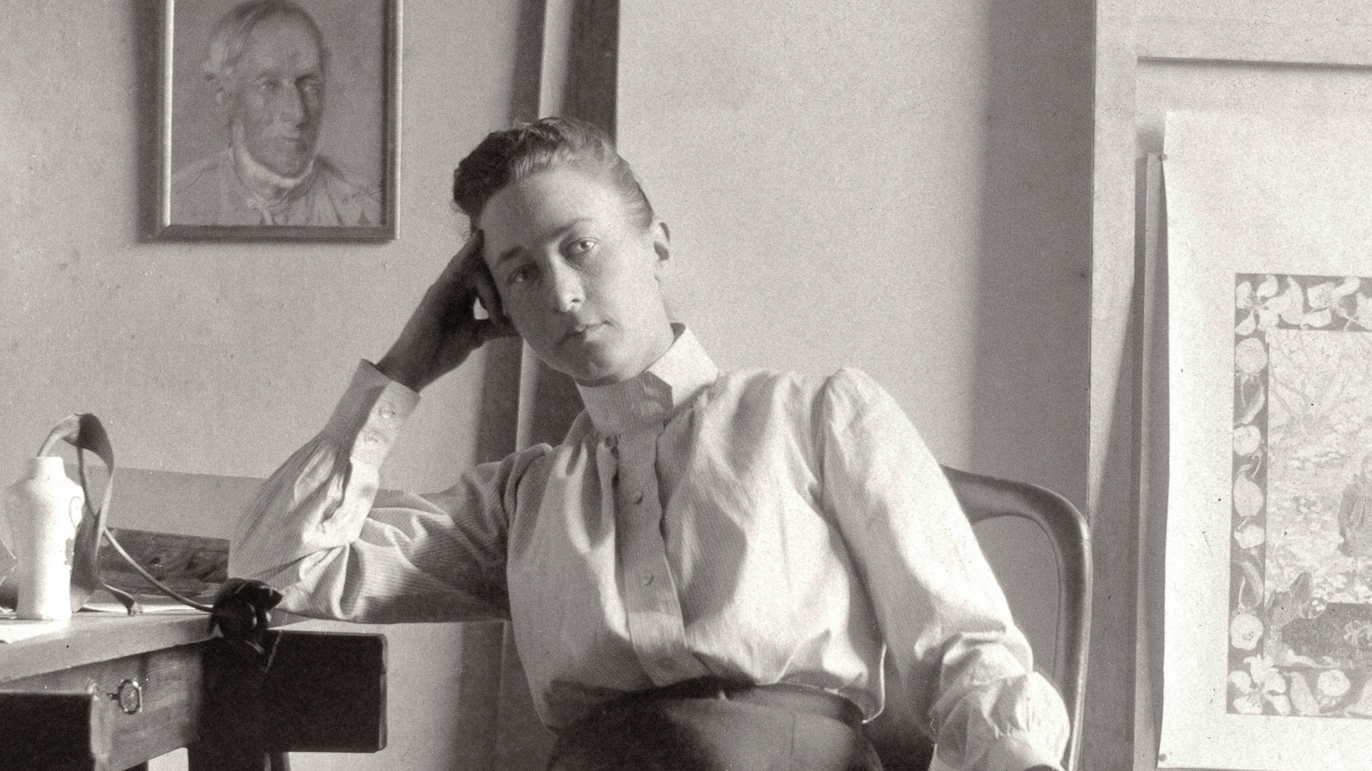 Artist Hilma af Klint in her studio at Hamngatan, Stockholm, circa 1895. Photograph: Courtesy of Stiftelsen Hilma af Klints Verk