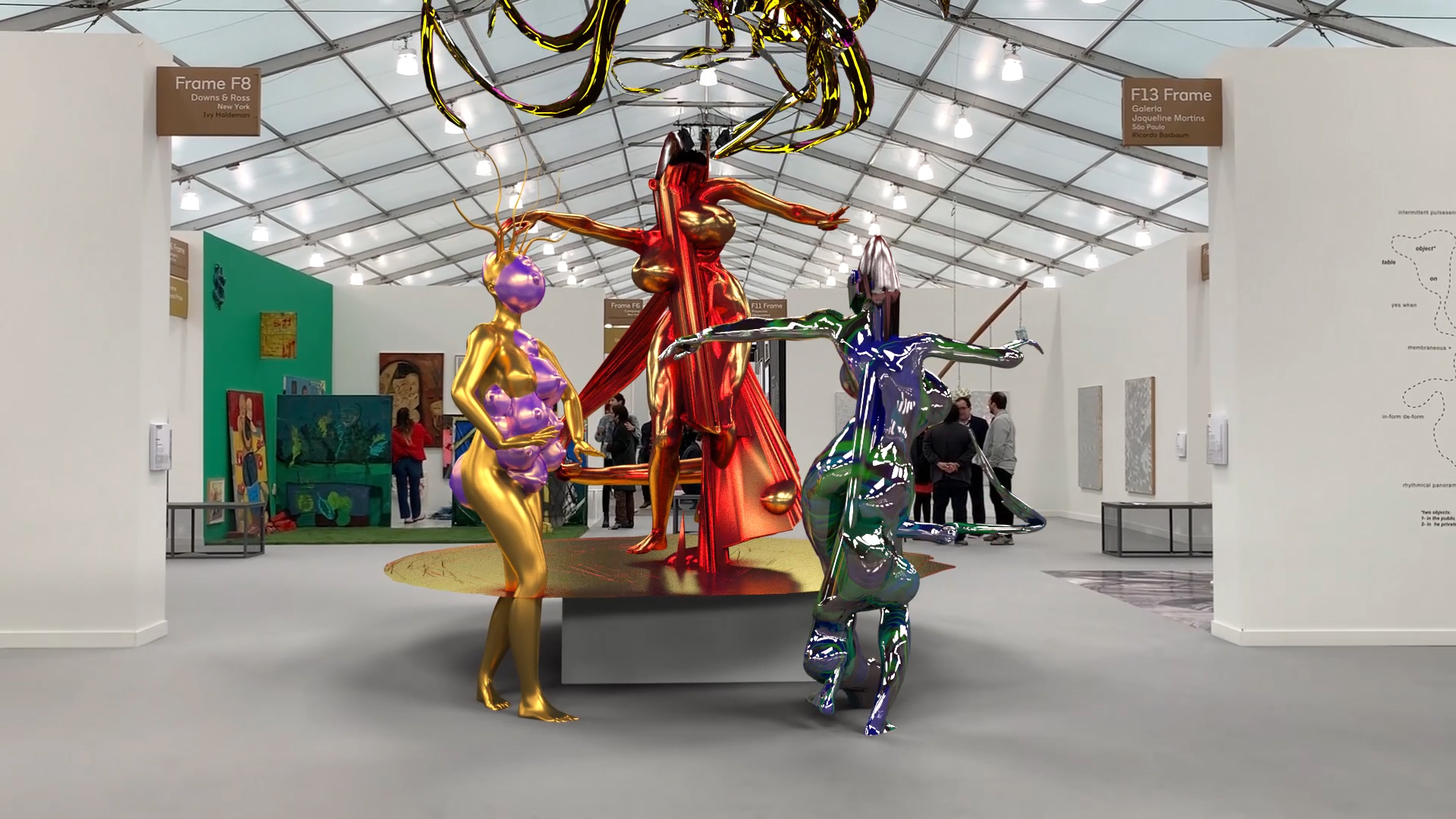Marjan Moghaddam, GlitchGoddesses at Frieze NY 2019 arthack