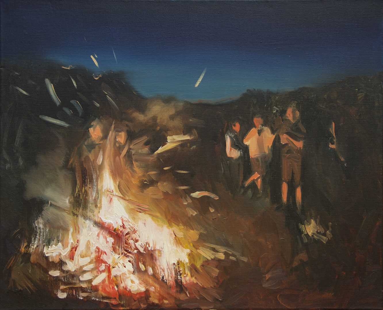 Lorella Paleni, 21 - The Ritual 2, Oil on canvas, 45x55 cm