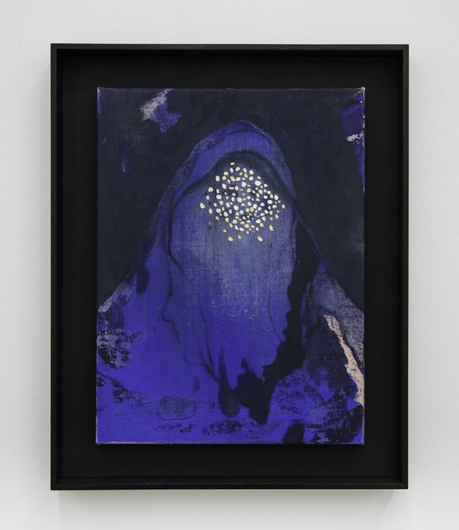 Adam Lee, Transfiguration 2016, oil and synthetic polymer paint on canvas, 46.5 x 57.5 cm Courtesy the Artist and STATION