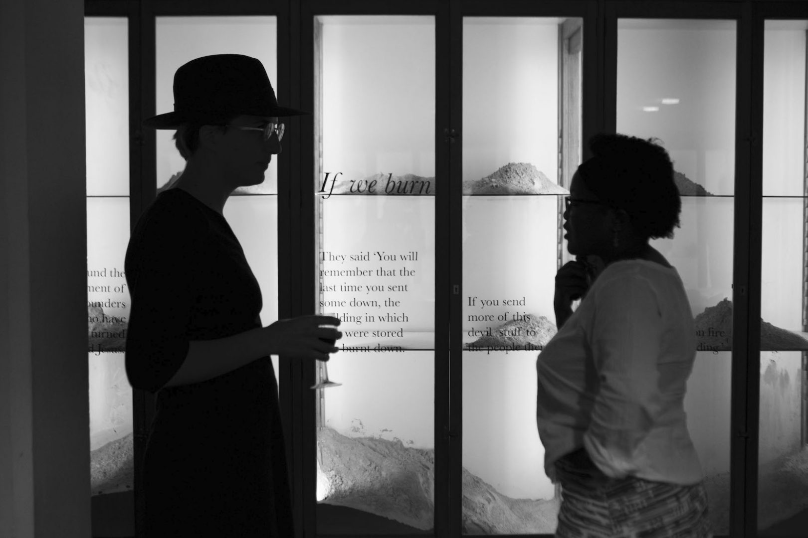 """The Wits Anthropology Department reopened its Museum collection with   """"If we burn there is ash"""". An exhibition by Talya Lubinsky with contributing artists Meghan Judge, Tshegofatso Mabaso and Thandiwe Msebenzi and performances by Lebohang Masango and Healer Oran. Wits University, Johannesburg. PICTURE LAUREN MULLIGAN"""