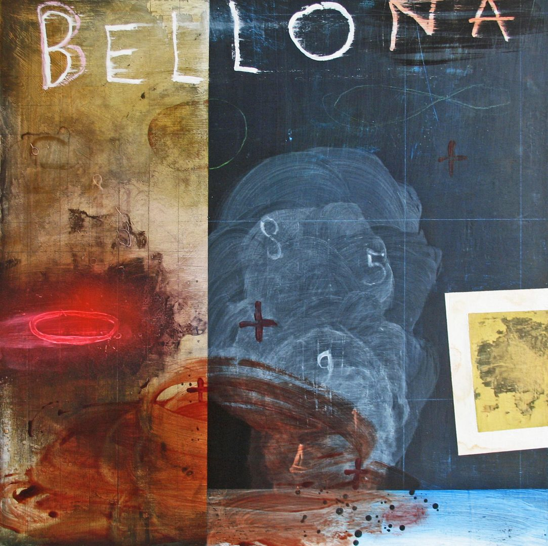 Renée Stout, Bellona (A Goddess of War), 2018, Acrylic and mixed media on panel, 24 x 24, Photo by artist