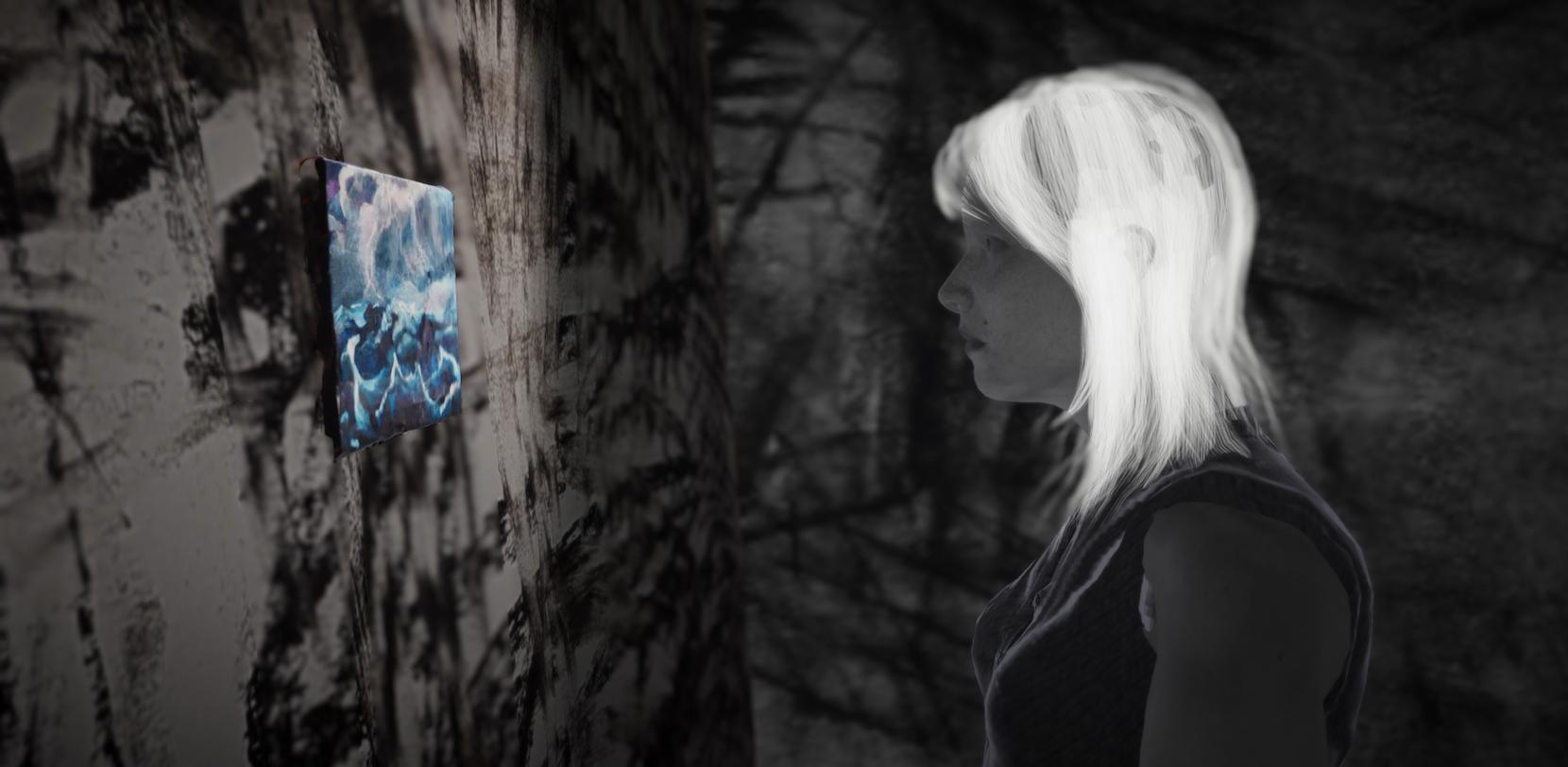 Lauren Moffatt, Technology Echoes Install, Digital Sketch