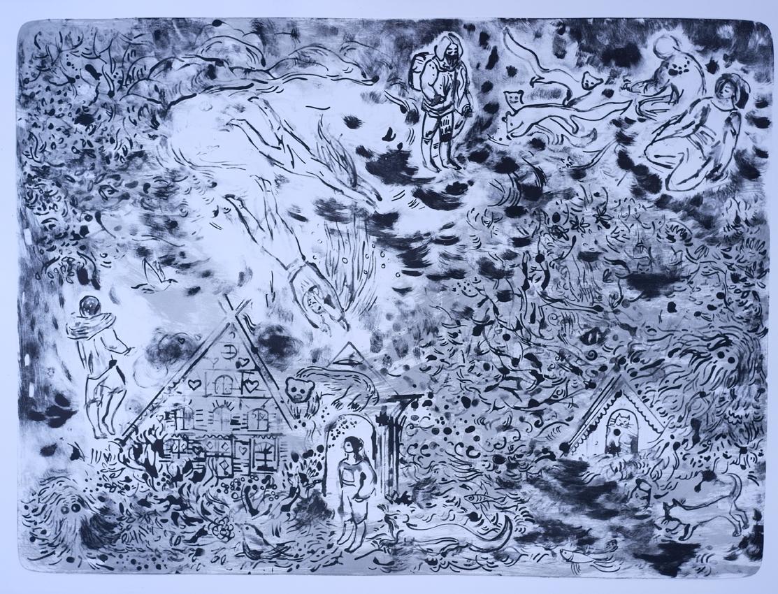 Franziska Güttler, Unterm See, Lithographie, 70x94cm, 2020