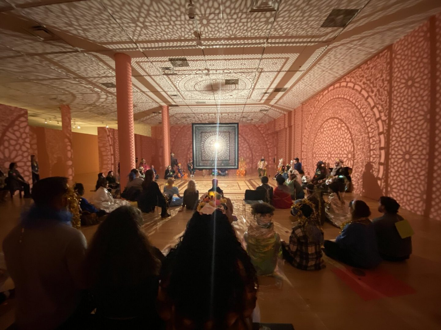 Holographic Space & Time Ceremony, 2019 at Philbrook Museum, photo by Rachel Ann Dennis